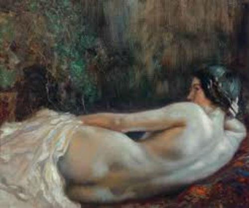 Обнаженная женщина лежащая спиной.jpg