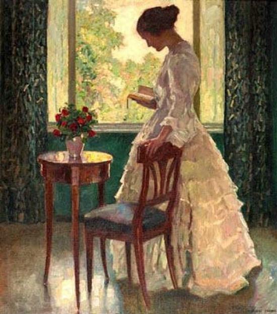 Читающая девушка перед окном.jpg