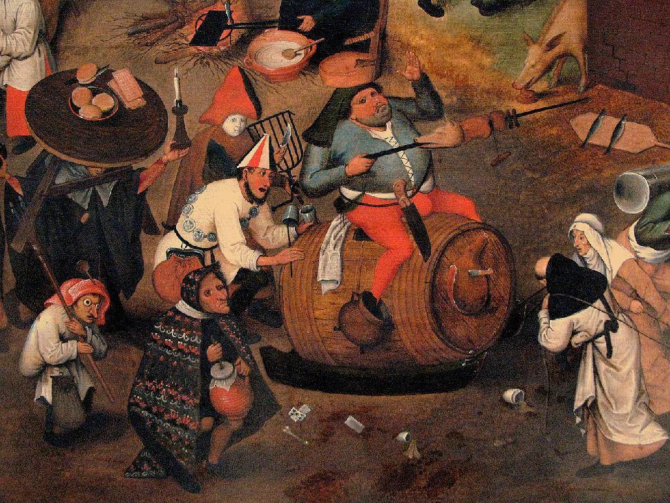 Питер Брейгель Старший - Битва Масленицы и Поста - 1559 (фрагмент 1 - Карнавал).jpg
