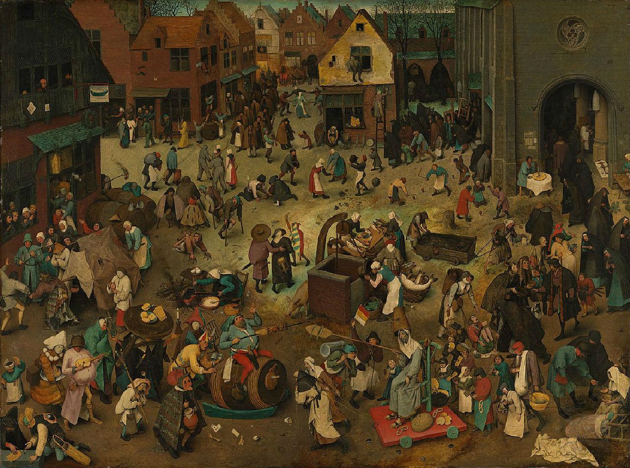 Питер Брейгель Старший - Битва Масленицы и Поста - 1559.jpg