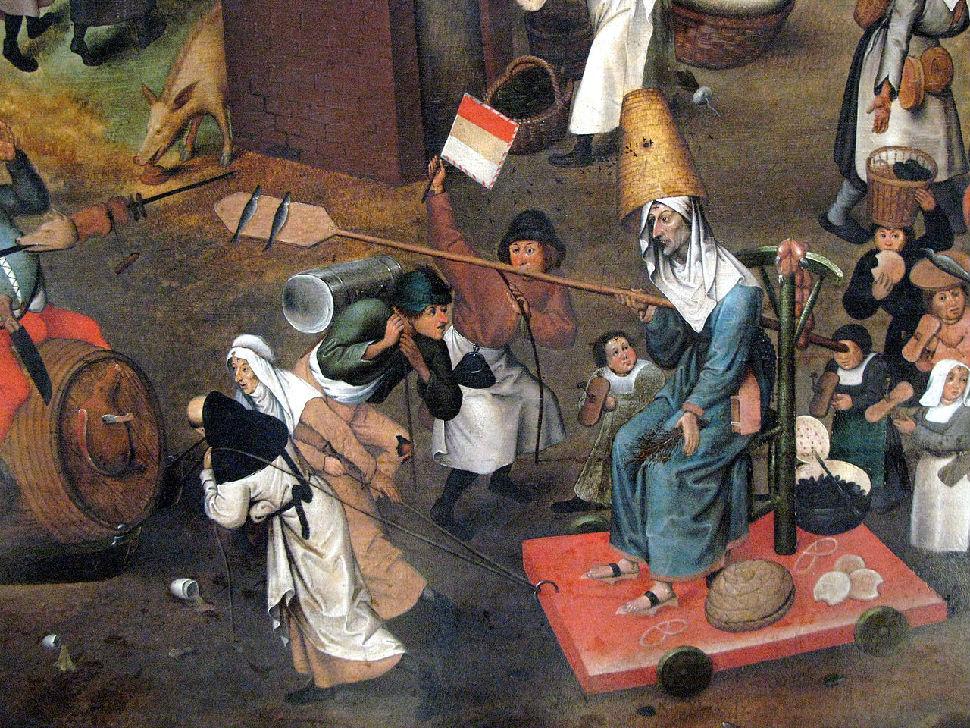 Питер Брейгель Старший - Битва Масленицы и Поста - 1559 (фрагмент Пост).jpg