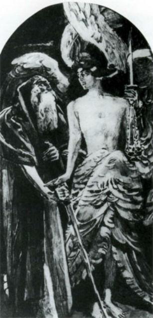Михаил Врубель - Иллюстрация к стихотворению Пушкина Пророк - 1899.jpg