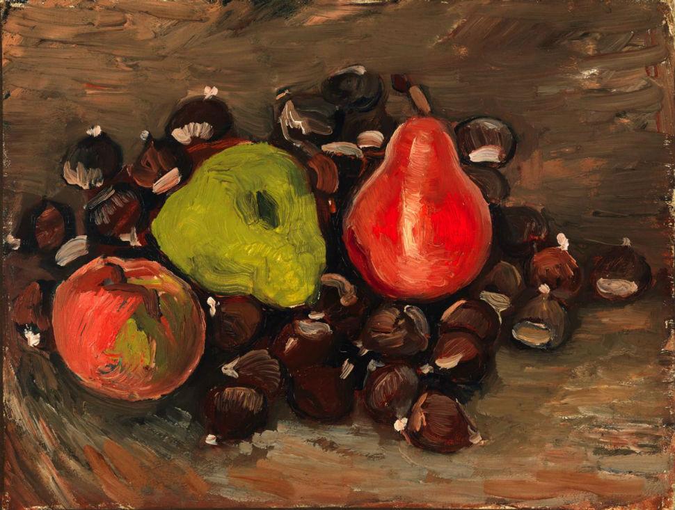 Натюрморт с фруктами и каштанами - 1886.jpg