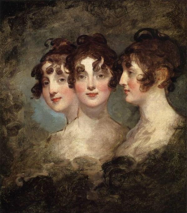 Гилбер Стюарт - Тройной портрет Элизабет Паттерсон Бонапарт - 1804.jpg