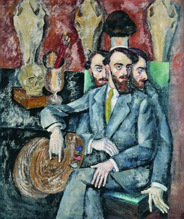 Илья Машков - Тройной портрет художника А И Мильмана - 1916.jpg