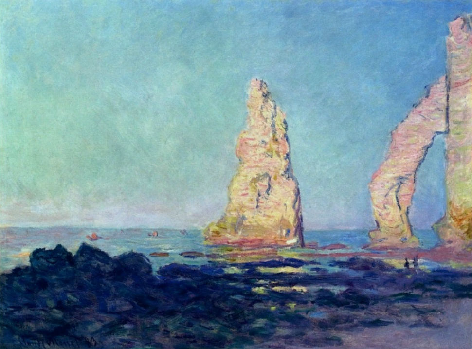 14 - Клод Моне - Скала Игла в Этрета. Отлив - 1883.jpg
