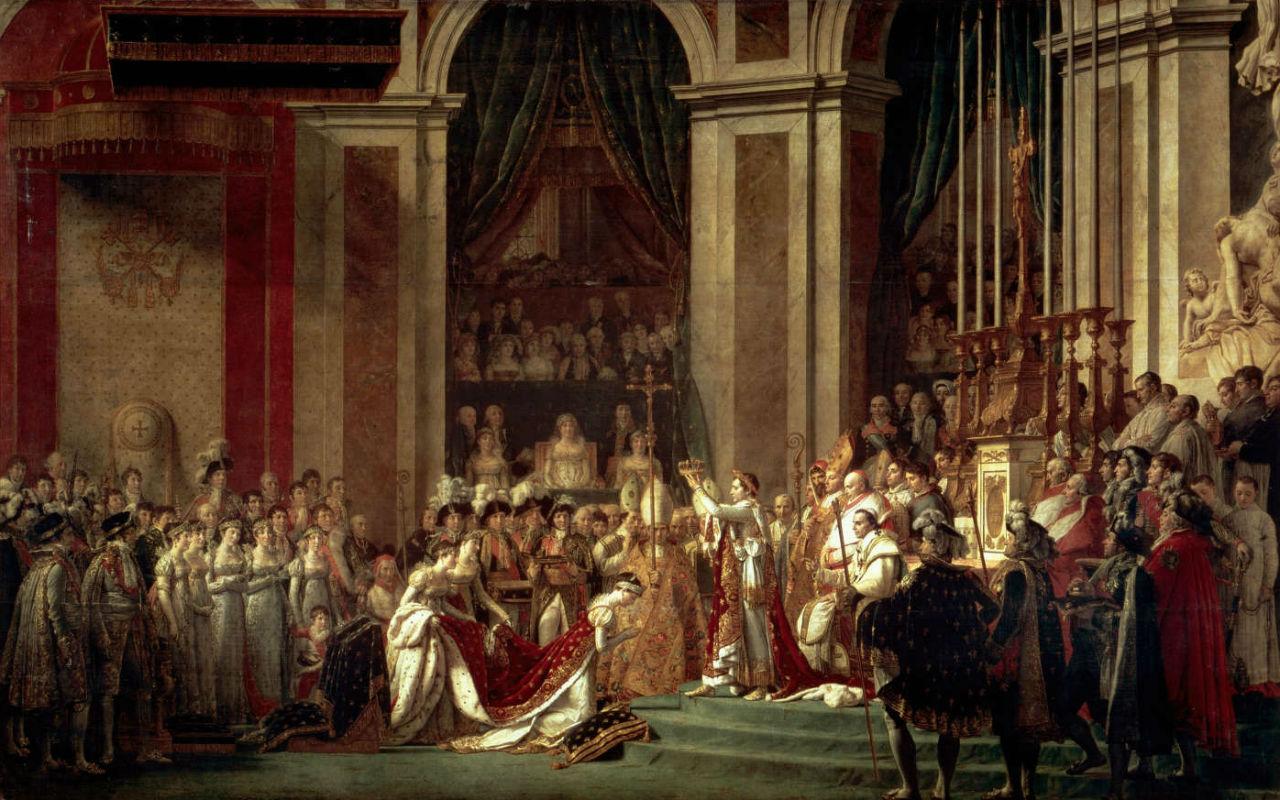 Жак Луи Давид - Коронация императора Наполеона I  Бонапарта и императрицы Жозефины в соборе Парижской Богоматери - 2 декабря 1804 года - 1895-1808 - …