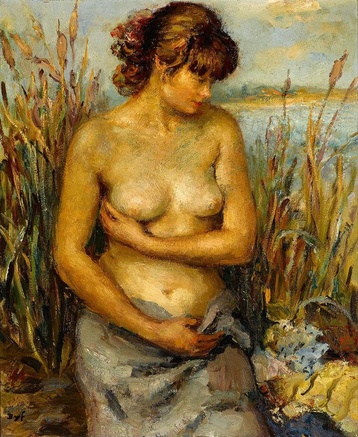 1940_Молодая обнаженная женщина в болотах Камарг Прованс (Jeune femme nue dans les marais de Camargue Provence)_73.jpg