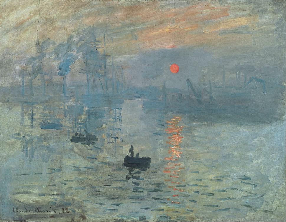 6-Клод Моне  Впечатление Восходящее солнце, 1873.jpg