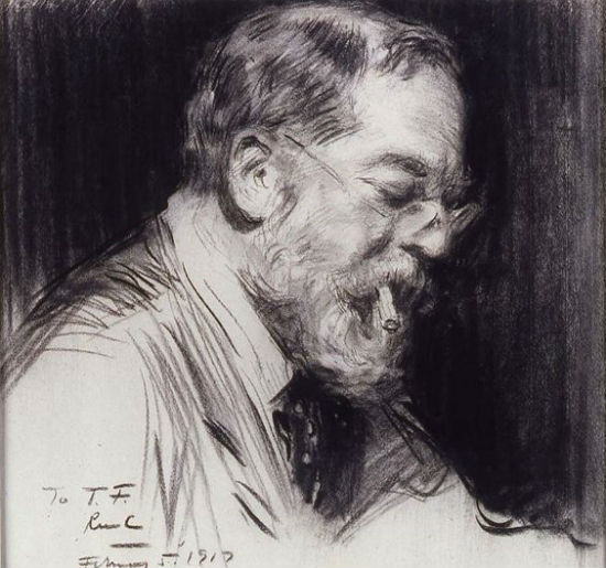 Раймонд Кросби - Портрет Джона Сингера Сарджента - (возможно склонившегося над шахматной доской) - 1917.jpg