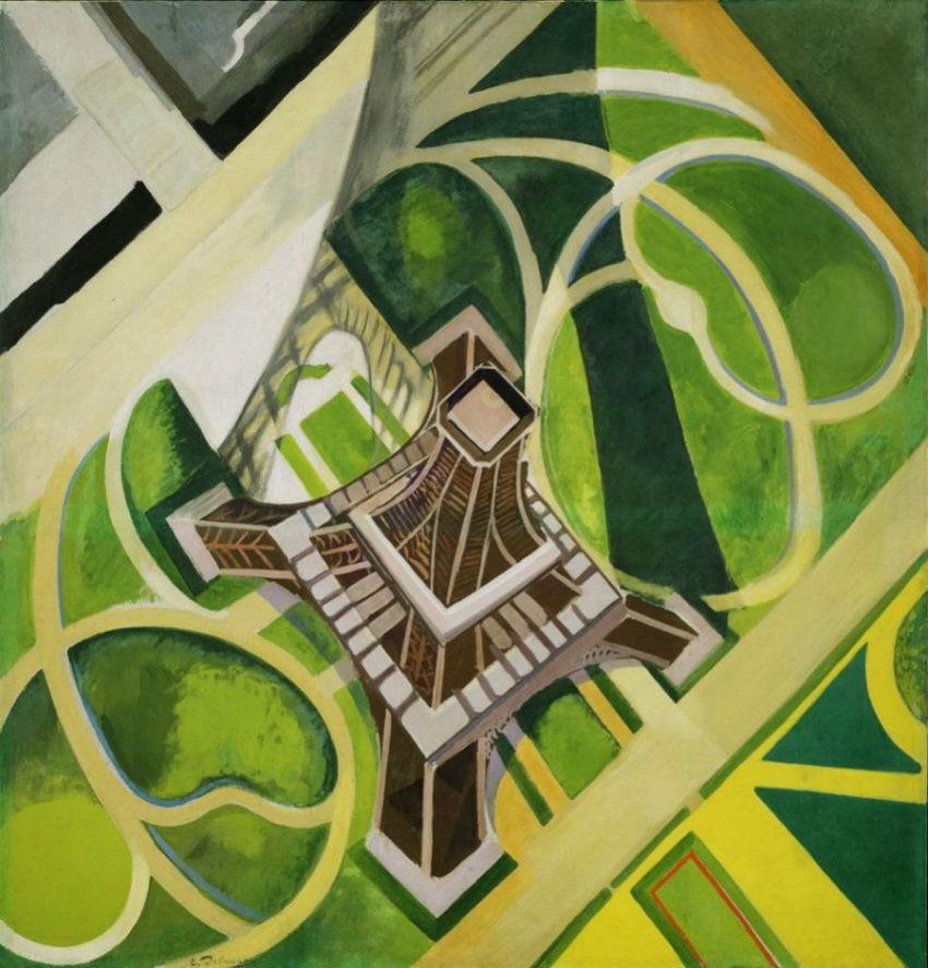 Робер Делоне - Эйфелева башня и сады Марсового поля  - 1922.jpg