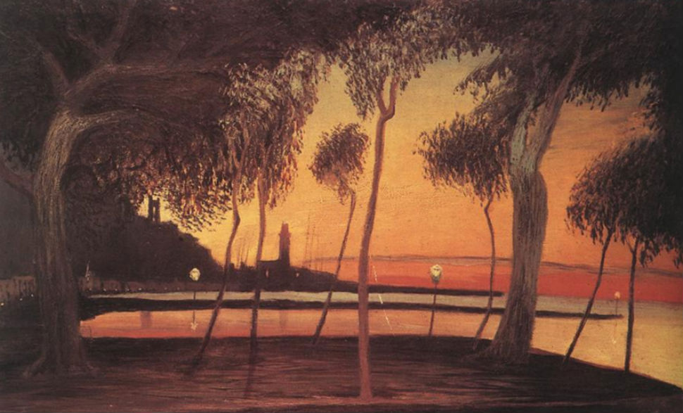 Sunset Over the Bay of Naples (1901).jpg