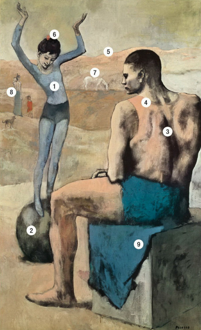 Пабло Пикассо - Девочка на шаре.jpg