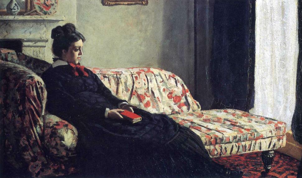 12-Живопись-_-Claude-Monet-_-Размышление Мадам-Моне-на-диване-1871.jpg