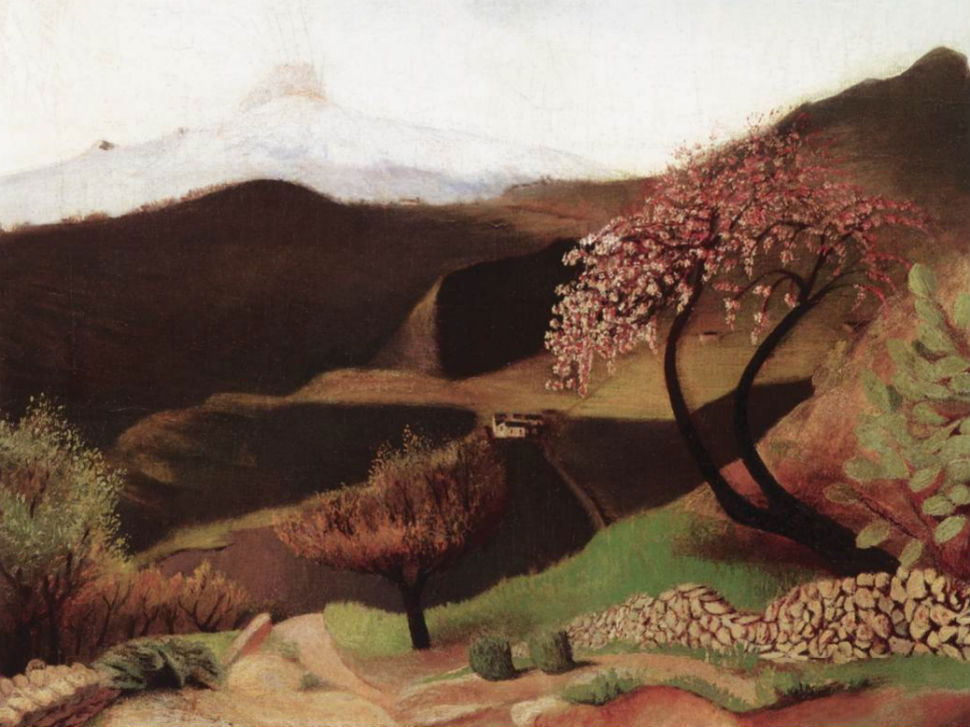 Blossoming Almonds (Landscape in Italy) (1902).jpg