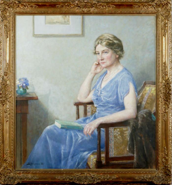 Портрет дамы в голубом платье и жемчужном ожерелье.JPG