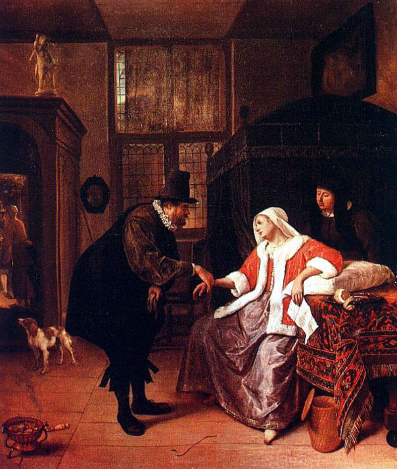 Ян Стен - Любовная тоска - Около 1660.jpg