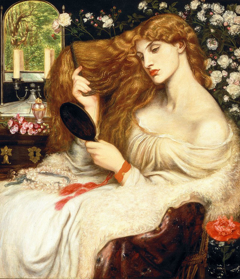 Данте габриэль Россетти - Леди Лилит - 1868.jpg