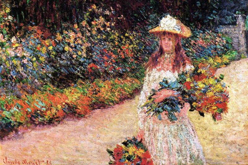 19-Живопись-_-Claude-Monet-Девушка в саду Живерни 1888.jpg