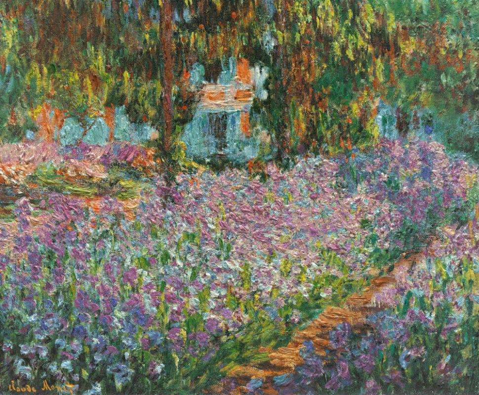 27-Живопись-_-Claude-Monet-_-Ирисы-в-саду-Моне.jpg