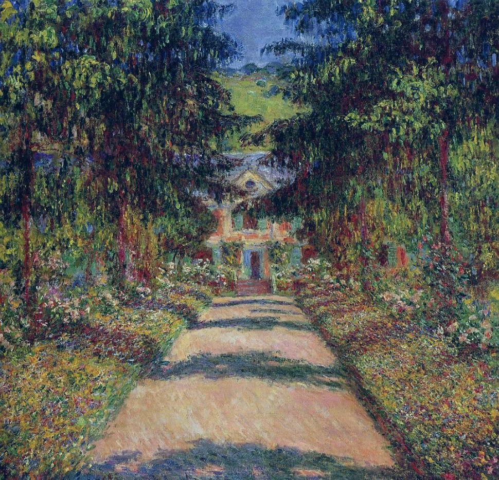 29-Живопись-_-Claude-Monet-_-Тропинка-в-саду-Моне-Живерни.jpg