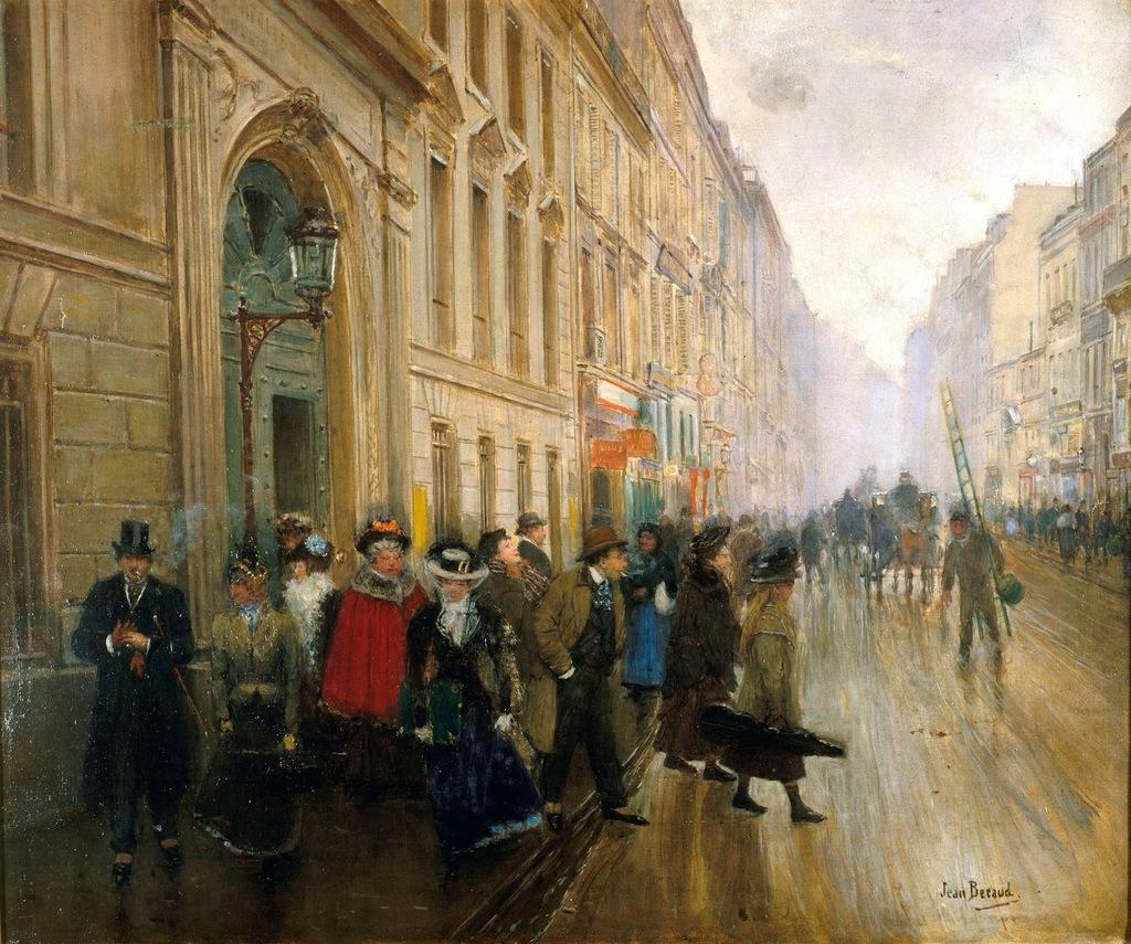 Выход из консерватории - 1899 - Париж музей Карневале.jpg