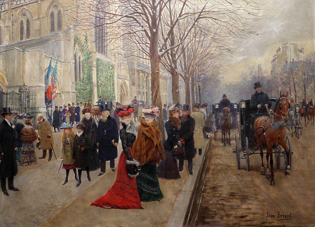 После службы в церкви Святой Троицы - около 1909 - Париж музей Карневале.jpg