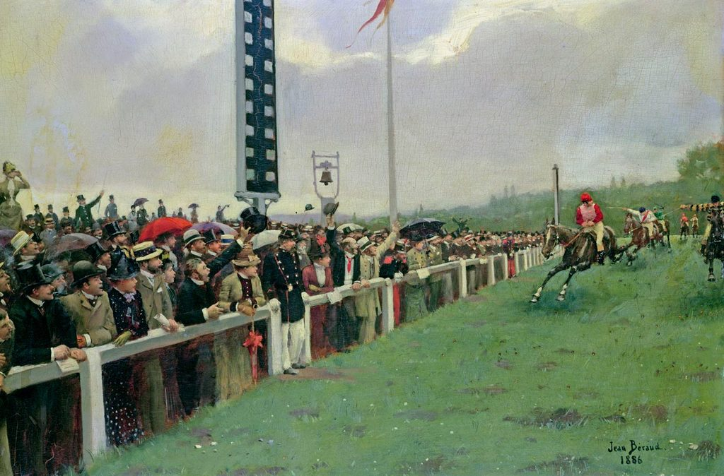 Беговая дорожка на ипподроме Лоншан - 1886 - Париж музей Карневале.jpg