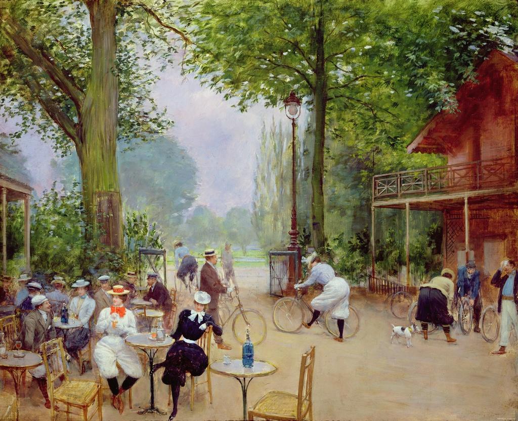 Коттедж велосипедистов в Булонском лесу - около 1900 - Париж музей Карневале.jpg
