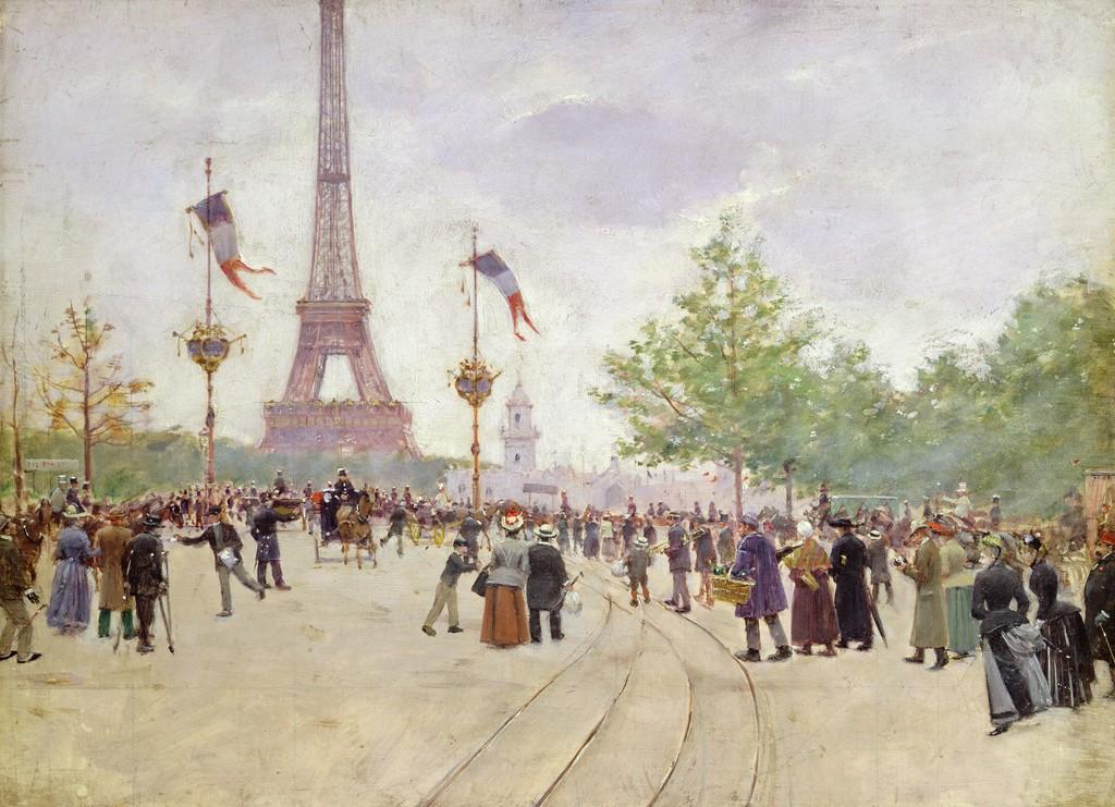 Вход на Всемирную выставку - 1889 - Париж музей Карневале.jpg