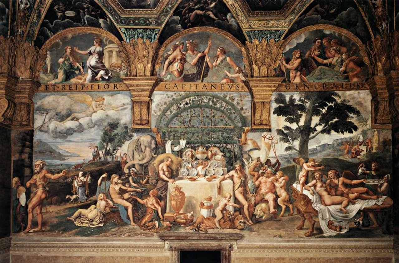 Джулио Романо - Бракосочетание Амура и Психеи фреска в палаццо дель Те - Мантуя.jpg