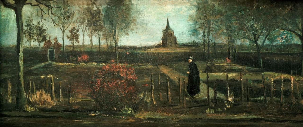 Винсент Ван Гог - Сад у дома приходского священника в Нюэнене - 1884.jpg
