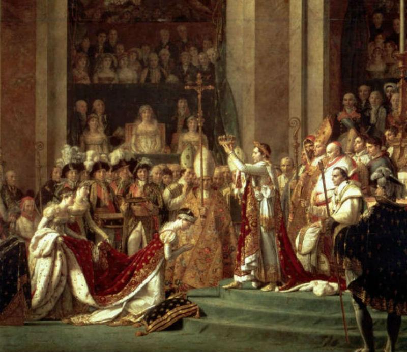 Жак-Луи Давид Коронование Наполеона I и Жозефины - фрагмент.jpg