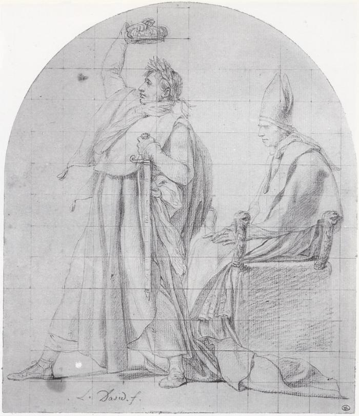 Жак-Луи Давид - Коронующий себя Наполеон - Лувр.png