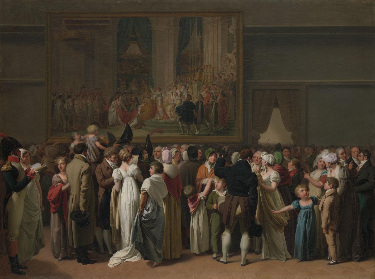 Луи-Леопольд Буальи - Публика смотрит на Коронацию Давида в Лувре - 1810.jpg