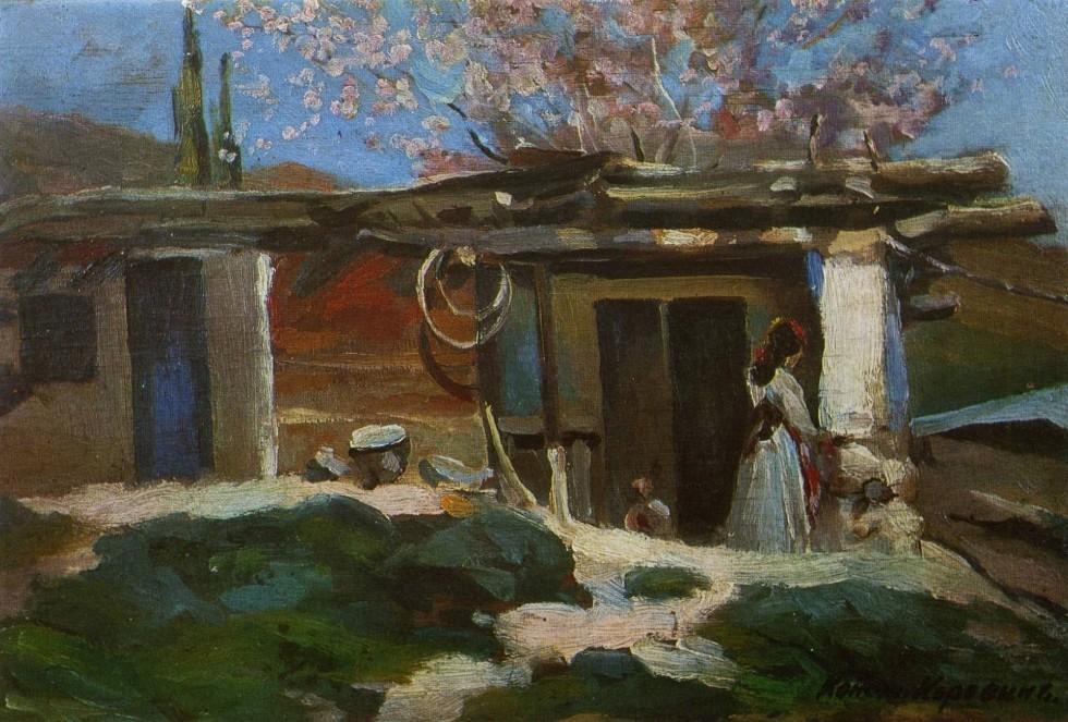 1-Крым. Цветущий миндаль - 1905.jpg