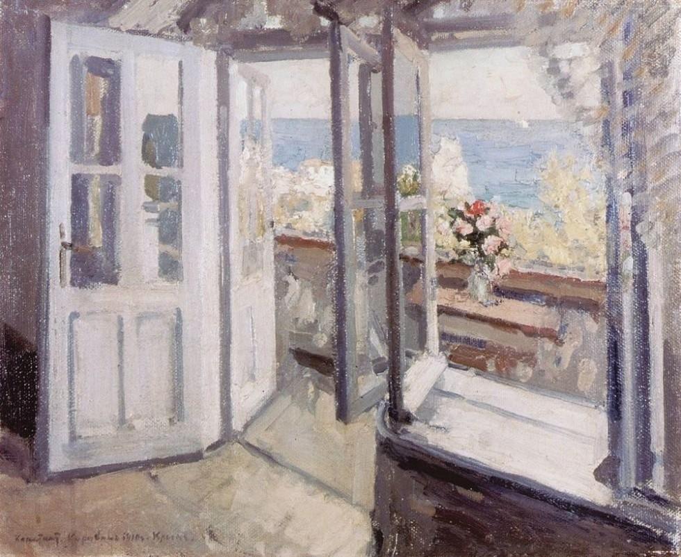 3-Балкон в Крыму - 1910.jpg