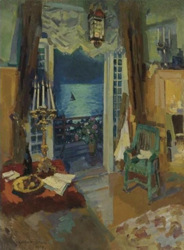 11-Вид мастерской. Гурзуф. Крым (Комната на юге) - 1914.jpg