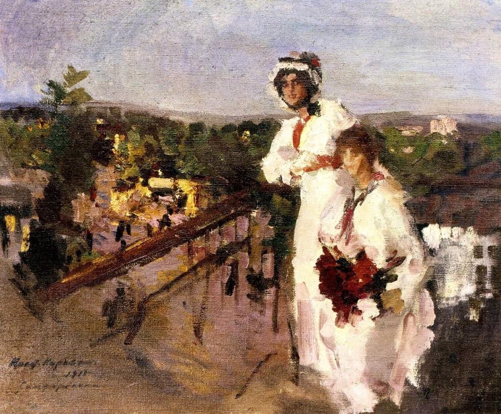 14-На балконе. Вечер в Симферополе - 1915.jpg