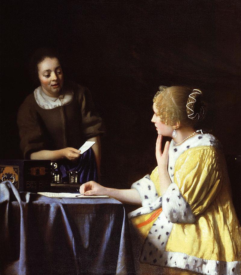 Vermeer - Lady Maidservant Holding Letter.jpg