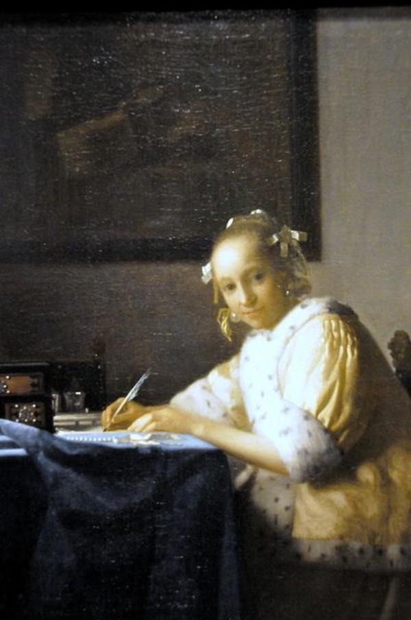 Вермеер - Дама в жёлтом, пишущая письмо.jpg