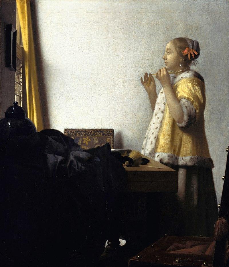 Вермеер - Женщина с жемчужным ожерельем.jpg