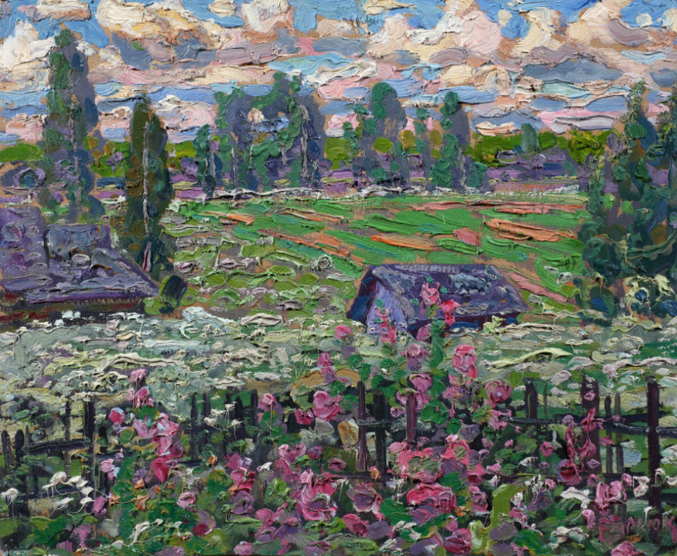 1-Давид Бурлюк. Летний пейзаж (1910-е годы. Собрание А. Н. Володчинского).jpg