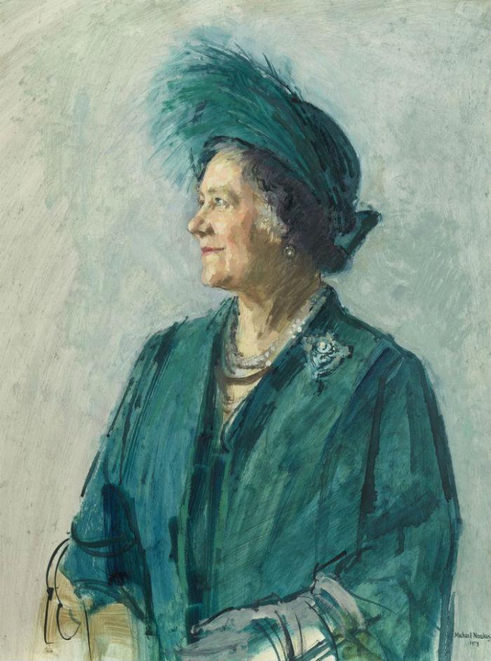 2-Майкл Ноакс - Елизавета королева-мать - эскиз к портрету 1973.jpg
