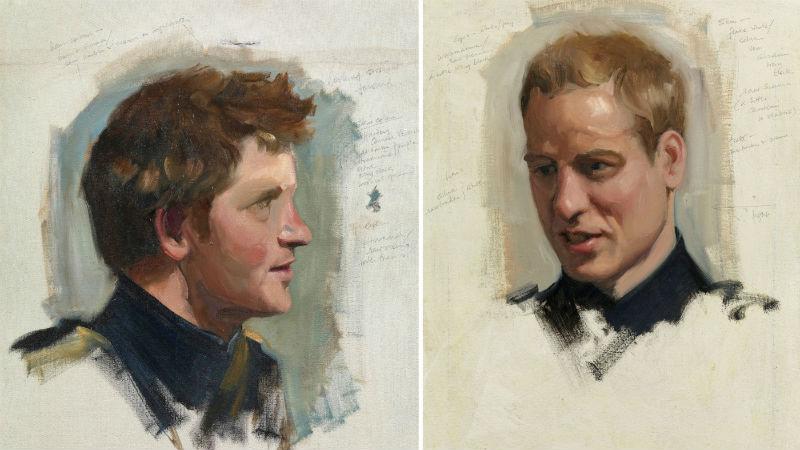 3-Никки Филиппс, подготовительные этюды к двойному портрету принцев Уильяма и Гарри (2009).jpg