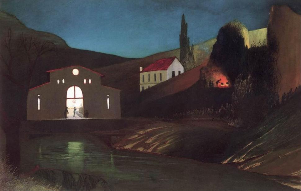 Electric Station at Jajce at Night (1903).jpg