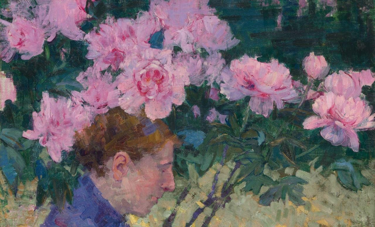 6-Живопись_Джон-Питер-Рассел_Peonies-and-Head-of-a-Woman-1887.jpg