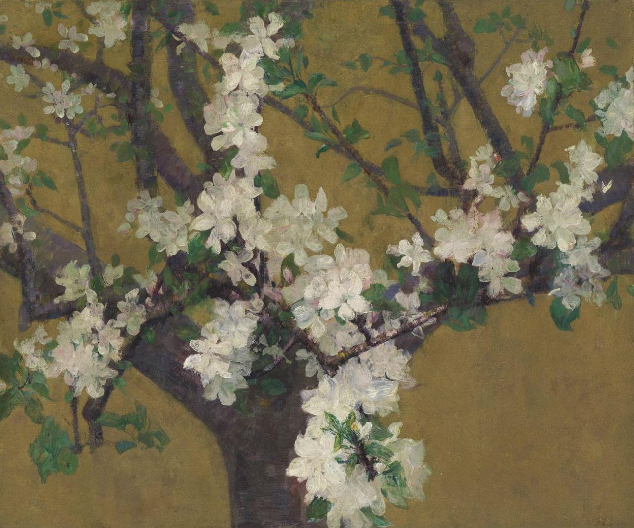 9-Живопись_Джон-Питер-Рассел_Almond-Tree-in-Blossom-1887.jpg