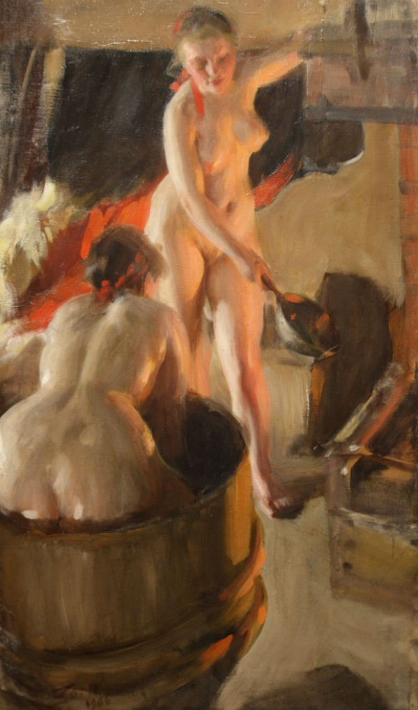Андерс Цорн -Даларнийские девушки в бане - 1906.jpg