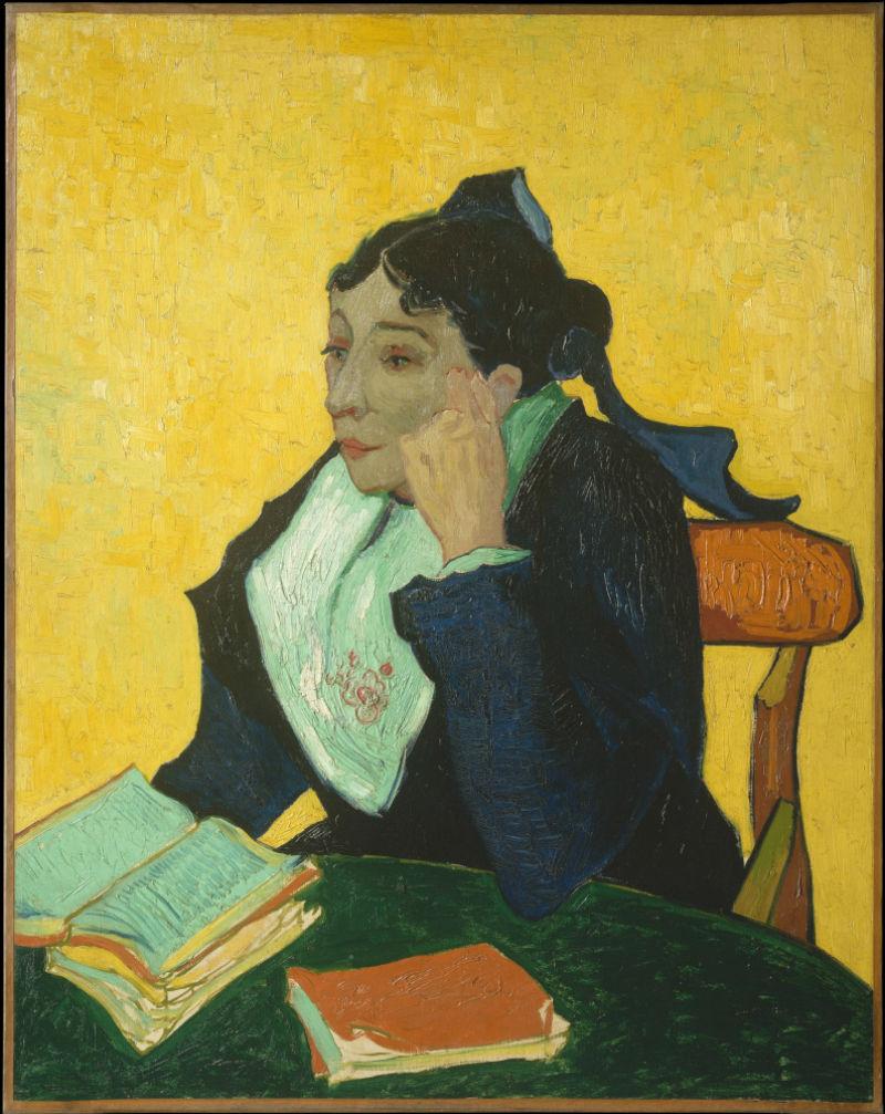 3-Арлезианка,  мадам Жино с книгами - 1889.jpg